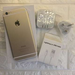 iphone6 64g 港行 hk version gold 100%original 99%new come with box