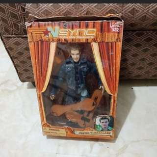 Justin Timberlake collectible marionette doll