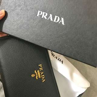 Prada Wallet with gift box