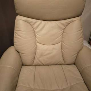 PU Leather Reclining Swivel Chair