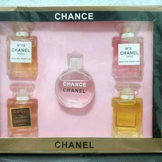 🌟INSTOCK🌟 Chance Chanel 5 Piece Miniature Collection