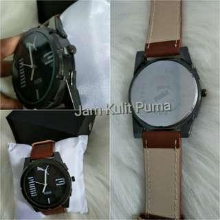 Jam tangan analog kulit puma