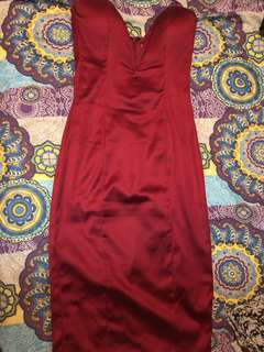Portia & Scarlett Red Satin Dress