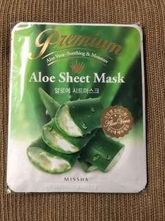 5 pcs Missha Aloe Vera Soothing & Moisture Sheet Mask