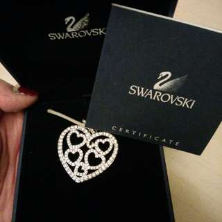 Authentic Swarovski Full Hearts Necklace New!
