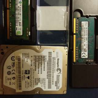 2 x 2gb ram sold na po hdd
