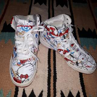 Hello kitty Edition Rebook hi cut Rubber Shoes