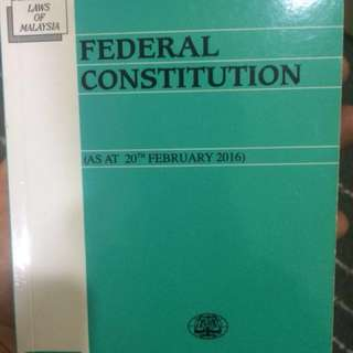 Federal constitution (fedcon) Law
