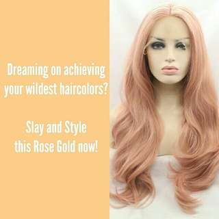 ROSE GOLD LACE FRONT WIG SECOND HAND