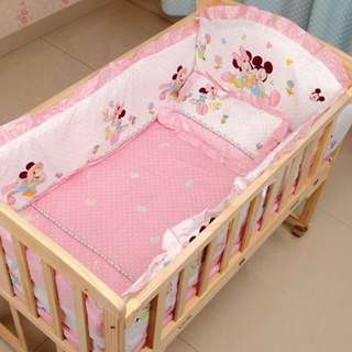 Baby Cot with free bedding sets