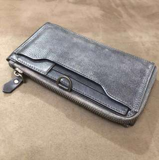 Dark grey leather wallets