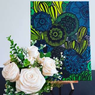 Flower and Painting