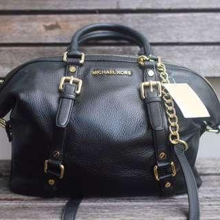 Michael Kors Mercer Black MD Duffle Leather
