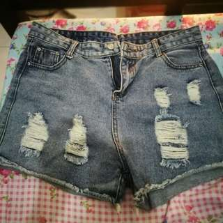 authentic Vivienne Westwood tattered shorts