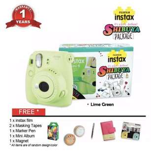 Fujifilm Shibuya Gift Pack Instax Mini 9- Lime Green