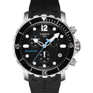 【TISSOT】Seastar 1000 海洋之星潛水計時腕錶-黑/45mm(T0664171705700)