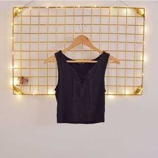 Topshop lace up tank top