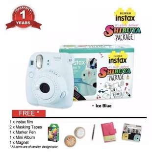 Fujifilm Shibuya Gift Pack Instax Mini 9 - Ice Blue