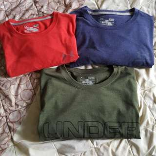 Under armour cotton charged t shirts