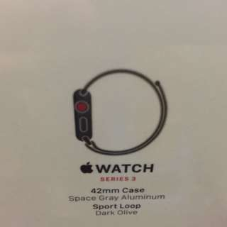 Apple Iwatch Series 3 Space Gray 42mm Case