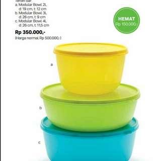 Modular bowl dari tupperware banyakngratisnya