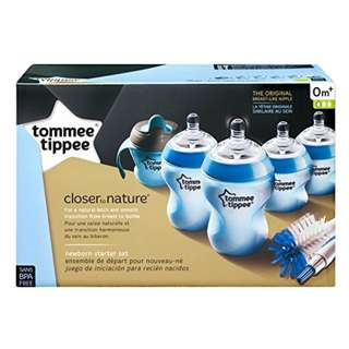 Tommee Tippee Closer to Nature Infant Newborn Starter Gift Set blue 6 pcs