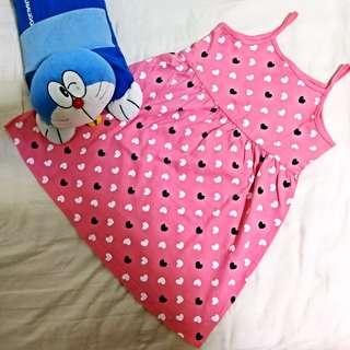 Girl Pink Sleeveless Dress