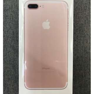 全新未開封 (128GB) I Phone 7 Plus 玫瑰金色