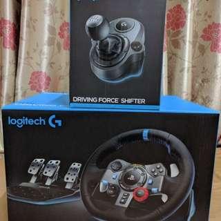 全新Brand New Logitech Driving Force G29 Racing Wheel + Shifter #GOGOVAN50 #噢賣Game