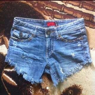 Highcut Distressed Hotpants Jeans