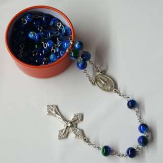[Handmade] Multicolored glass beads Rosary