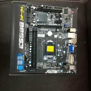 二手 BIOSTAR HI-FI B85S3 B85 DDR3 USB3 LGA1150 MATX MB