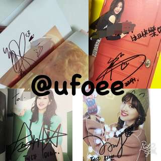 Authentic handsigned kpop albums Tfboys Apink AOA Twice Red velvet Ikon Winner Bts  Exo nct Seventeen  Cnblue Got7 Infinite Gfriend Exid Wanna one Monsta x 林俊杰 薛之谦