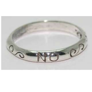 Sterling Silver 'Yes - No - Maybe' Ring: Size 7
