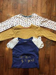 12-18 month bundle of tshirts for baby girl