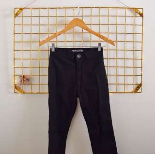 Punny black high waisted jeans