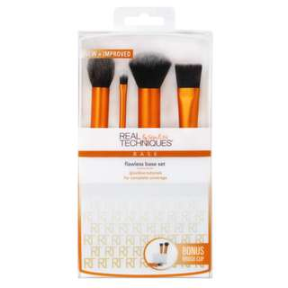 AUTHENTIC Real Techniques FLAWLESS BASE SET brush kit for face base