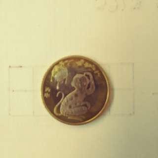 中國生肖猴(2016)紀念幣
