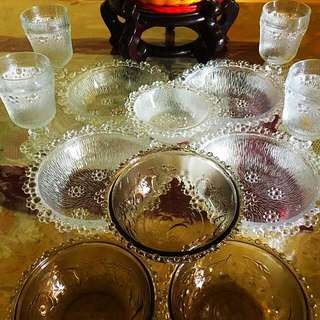 Vintage bubble glassware