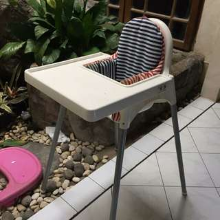 Baby chair ikea with tray
