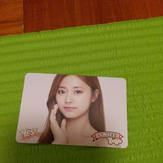 Twice yescard Tzuyu白卡