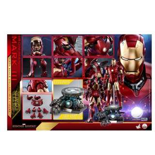 (PO) Hot Toys – QS012 – Iron Man – 1/4 scale Mark III (Deluxe Version)