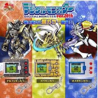 Digimon v-pet 20th Anniversary Edition, Zubamon, Alphamon and Omegamon!