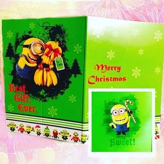 🌟minions 聖誕卡 3張