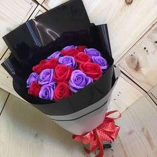 18 Soap roses bouquet
