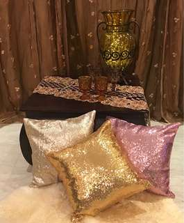 Rental of Romantic Beach Party Cushions / Carpets / Fairy Lighs /Jars & Lanterns/ Curtains /Dessert Table