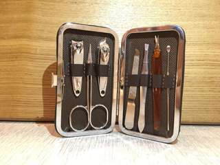 7-Pcs Manicure set with nice leather pouch