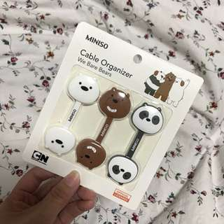 🆕 WE BARE BEARS Cable Organizer