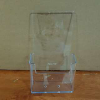 Acrylic Brochure Holder, 1-Tier 2 sizes available
