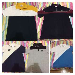 Authentic lacoste poloshirts